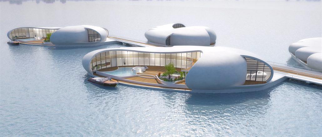 плавающие дома дубай